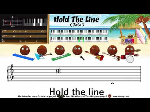 How to play : Hold The Line (Toto) - Tutorial / Karaoke / Chords / Score / Cover