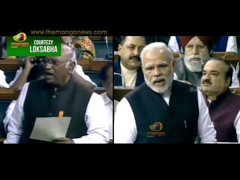PM Modi Counter thrashes On Mallikarjun Kharge Comments | Lok Sabha | Mango News