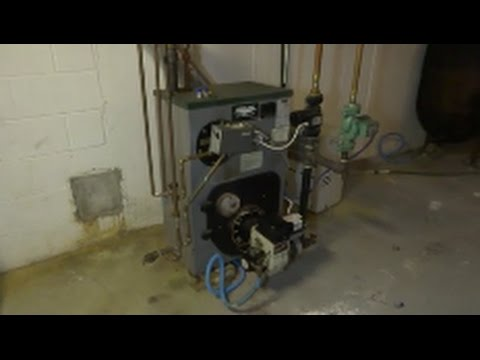 peerless /beckett oil burner maintainance cleaning combustion test ...