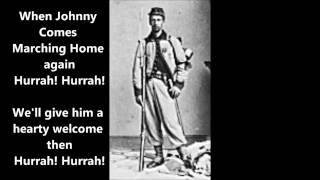 WHEN JOHNNY COMES MARCHING HOME words lyrics best favorite popular Civil War song songs