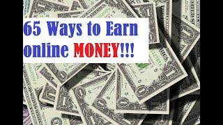 This video is about how to earn money online. introduces an app for earning money. total 65 ways online are described in video....