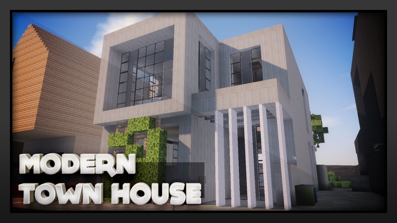 Minecraft Modern Town House Youtube