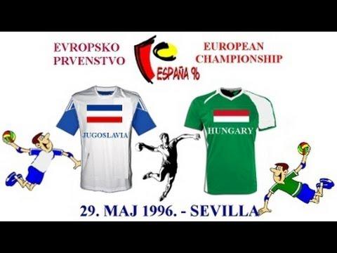 Handball гандбол rukomet kézilabda Jugoslavia - Hungary 29 maj 1996 European Handball Championship