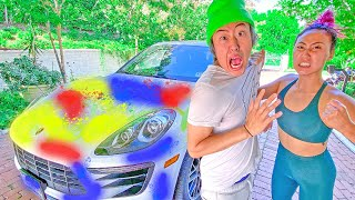 Spraypainting Lizzy's Car! | Ep.2 ($100)