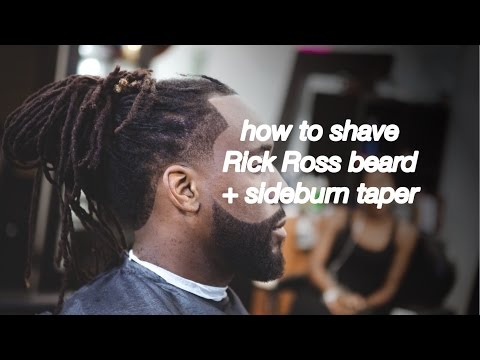 HAIRCUT TUTORIAL: how to cut Rick Ross beard: tapered sideburns + beard boost   #HERMCLIPSON