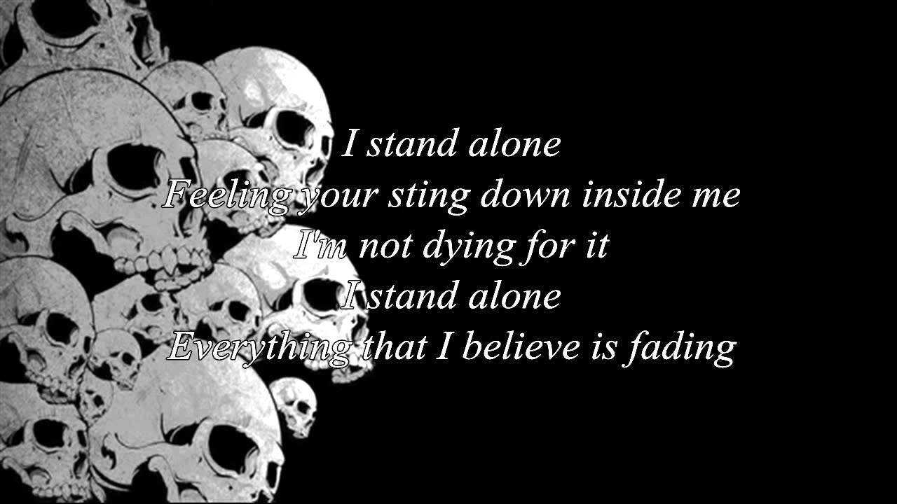 Godsmack - I stand alone lyric...