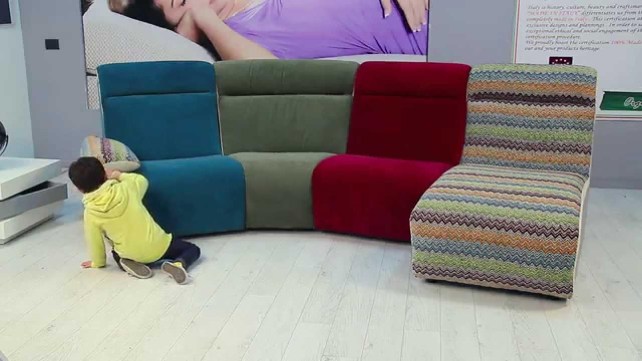 Cuborosso divani tessuti antimacchia - YouTube
