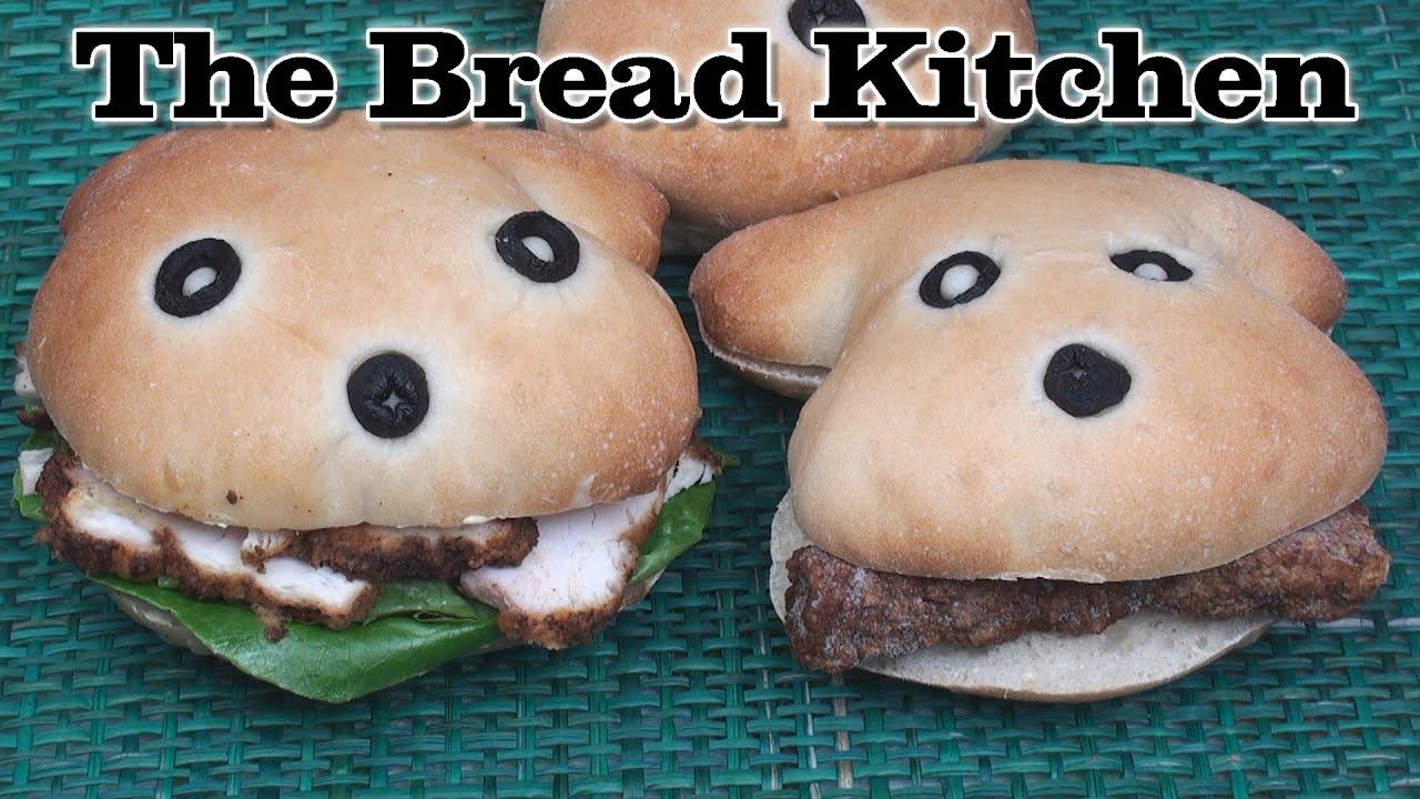 Cute Puppy Face Sandwich Rolls in The Bread Kitchen