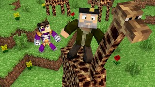 Minecraft | LA JIRAFA MÁS MONA!! c/ Vegetta | Minijuego BUILD BATTLE