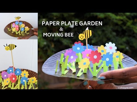 paper-plate-garden-and-moving-bumble-bee-craft--fun-spring-craft-for-kids