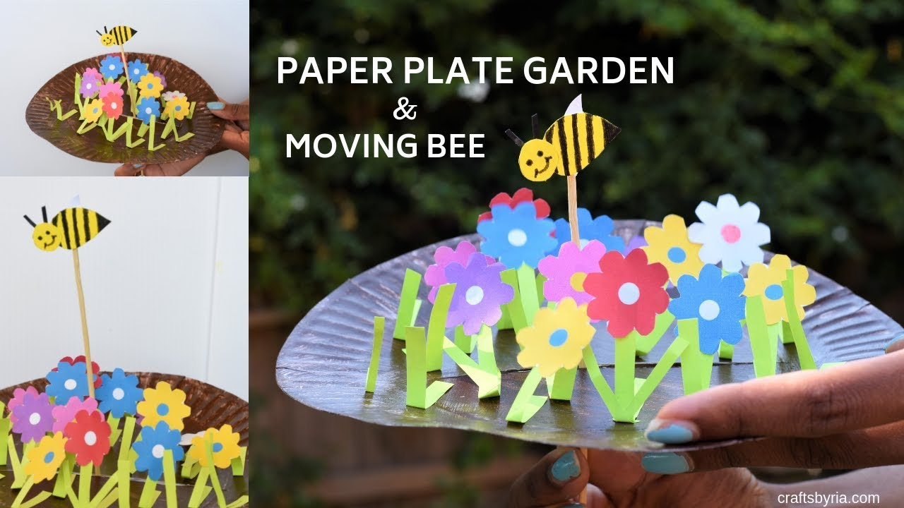 Paper Plate Garden And Moving Bumble Bee Craft Fun Spring Craft For