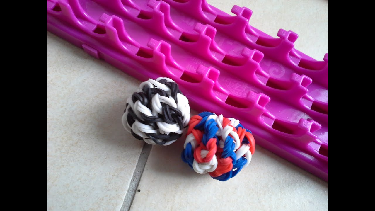 tutoriel cra z loom rainbow loom francais ballon de foot. Black Bedroom Furniture Sets. Home Design Ideas