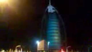 Burj Al Arab night lights show
