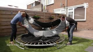 Inground Black Line trampoline opbouwinstructies