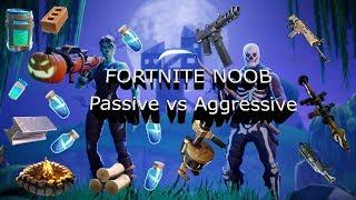 Fortnite Noob Passive vs Aggressive