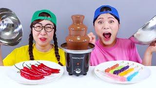 Chocolate Fondue Challenge DONA Mukbang