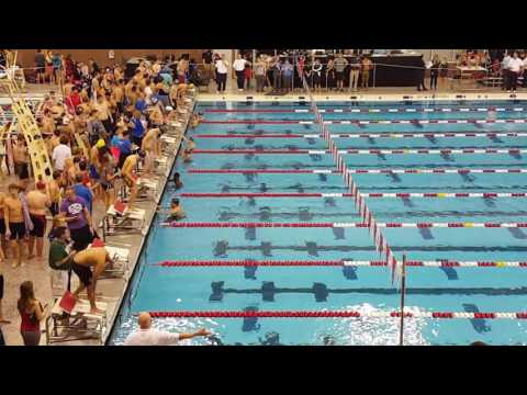 Cian McDermott Wins 50 Free Heat @ Ned Reeb 12.17.16