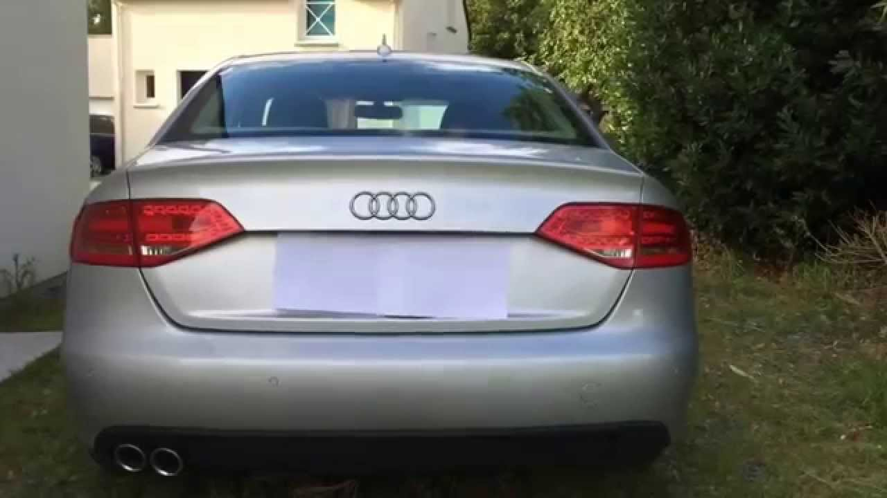 audi a4 b8 led tail lights braking youtube. Black Bedroom Furniture Sets. Home Design Ideas
