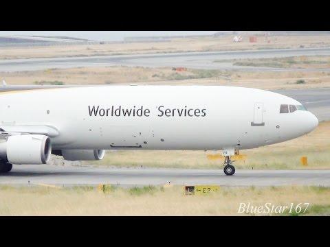 United Parcel Service (UPS) McDonnell Douglas MD-11F (N293UP) landing at KIX/RJBB (Kansai) RWY 06R