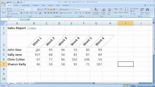 Excel Formatting Tip 7 - Angle Cells Diagonally in Excel Make Better Looking Reports and Tables
