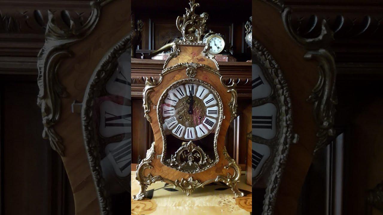 Часы каминные бронзовые золочённые в стиле ампир