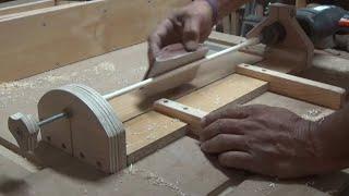 como hacer un util  para hacer espigas de todos los diametros