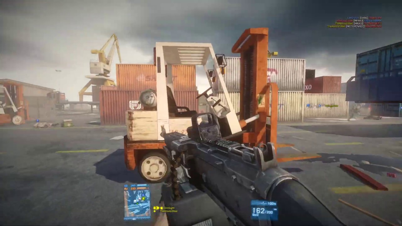 Battlefield 3 Commentary Loadout: M240B Holosight+Bipod+Extended Mag 29-5