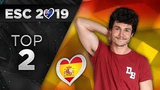Eurovision 2019 - Top 2 (So Far) + 🇪🇸
