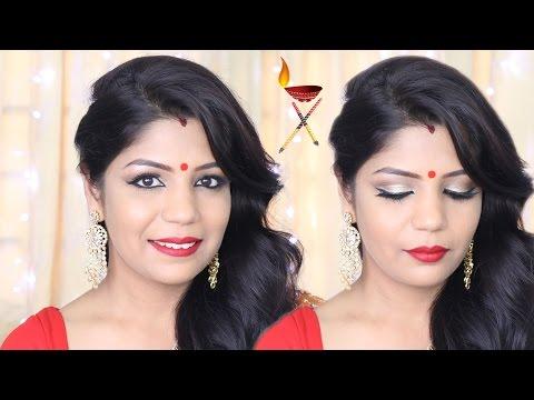 makeup by ethnico-Navratri Durga Pooja n Makeup Tutorial | SuperPrincessjo