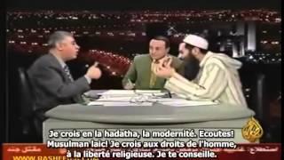 faut muslulman  laic (koffar)) humilié par Sheikh Al-Fizazi -ALLAH U AKBAR...