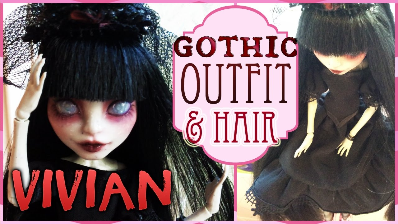 Vivian monster high rochelle haircut and outfit gothic crown vivian monster high rochelle haircut and outfit gothic crown tutorial winobraniefo Image collections