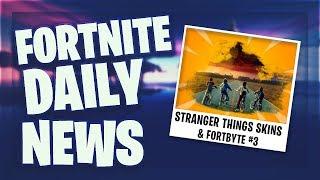 *NEUE* STRANGER THINGS SKINS & FORTBYTE #3 - Fortnite Daily News (21 Juni 2019)