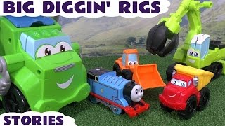 Thomas and Friends Big Play Doh Diggin Rigs and Peppa Pig Stories | Accidents and Surprise Eggs
