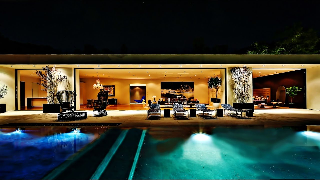 Magnificent modern contemporary luxury residence in for Luxury homes in beverly hills ca