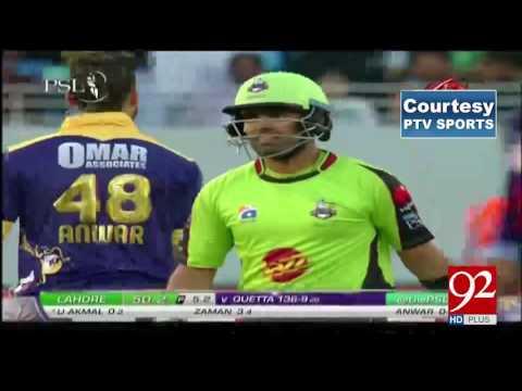 PSL 2017 8th Match: Lahore Qalandars vs Karachi Kings 16-02-2017 - 92NewsHDPlus