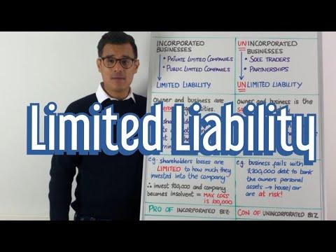 Limited Liability - GCSE Business & A Level Business