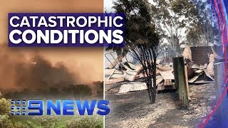 SA fires rage amid catastrophic weather conditions | Nine News Australia