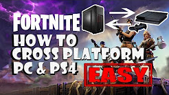 (APRIL 2018 STILL WORKING) HOW TO cross play EASY with PS4 and PC on FORTNITE