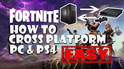 (JULY 2018 STILL WORKING) HOW TO cross play EASY with PS4 and PC on FORTNITE