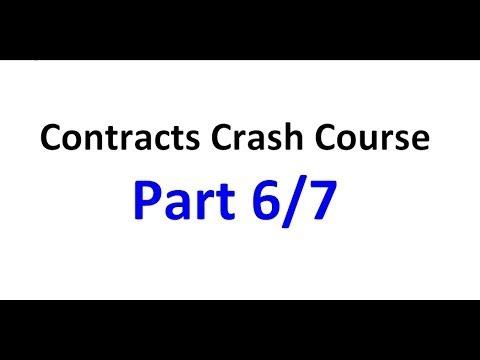 Contracts - Exam Crash Course Part 6/7