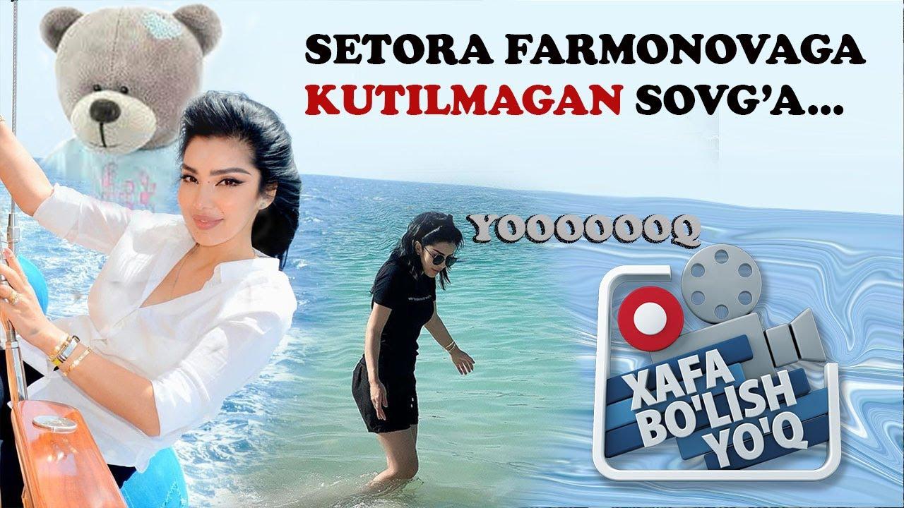 XAFA BO'LISH YO'Q 12-SON // Setora Farmonovaga jonli ayiq sovg'a qilindi...