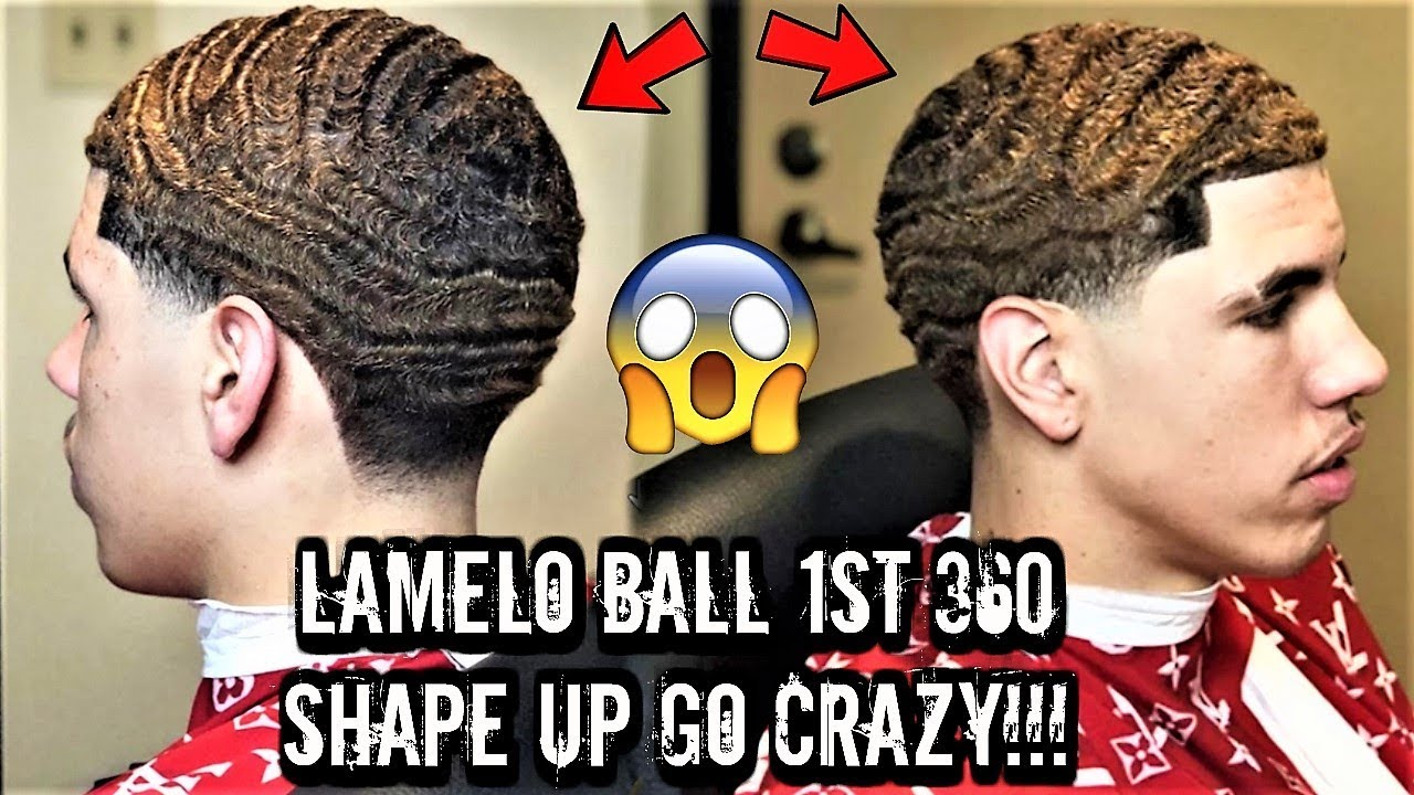 Lonzo Ball Lamelo Ball >> LAMELO BALL AKA DURAG MELO GETS A CRAZY 360 WAVE SHAPE UP LIVE AND DIRECT! \\ *MUST SEE* - YouTube