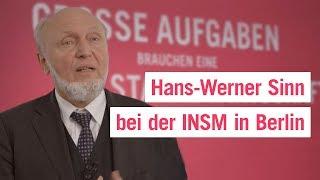 Hans-Werner Sinn bei der Initiative Neue Soziale Marktwirtschaft (INSM) in Berlin