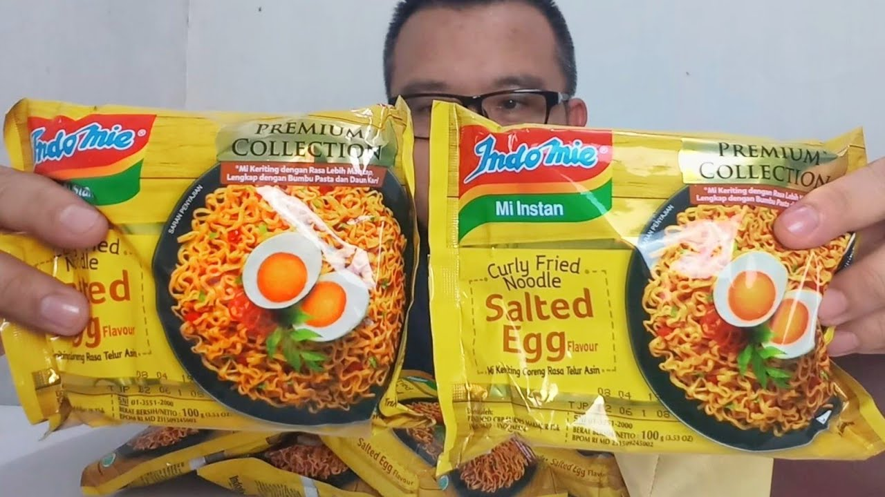 Laris Dan Viral Indomie Goreng Salted Egg Unboxing Youtube Telur Asin Indomiesaltedegg Eleveniaid