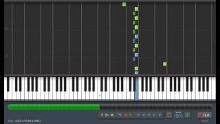 Beethoven: Fur Elise - Piano Tutorial (Synthesia) + Sheet Music & MIDI