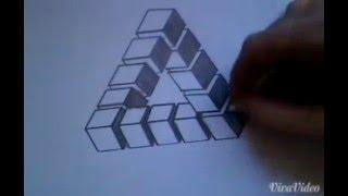 КАК НАРИСОВАТЬ 3D ИЛЛЮЗИЮ - НЕВОЗМОЖНЫЙ ТРЕУГОЛЬНИК#2(мы вконтакте http://vk.com/club118205841 как легко нарисовать очень необычные 3D картинки Другие супер-пупер 3D картин..., 2016-03-26T20:21:06.000Z)