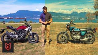 Vintage CB360T vs Modern CB300R – Motorcycle Evolution Test
