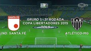 Gol - Independiente Santa Fé-COL 0 x 1 Atlético-MG - Libertadores - 18/03/2015