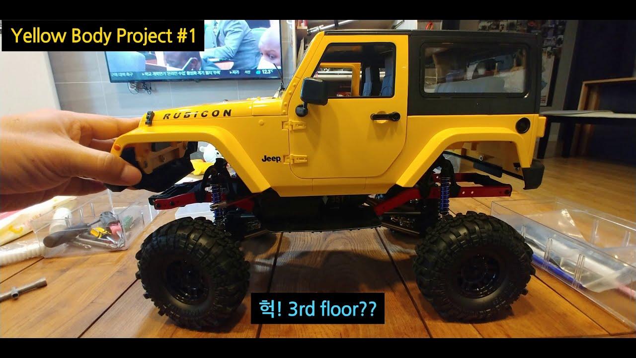 Download RC 최대한 실차처럼 만들기 #1 Yellow body wheelbase 275mm chassis (AliExpress body & chassis)