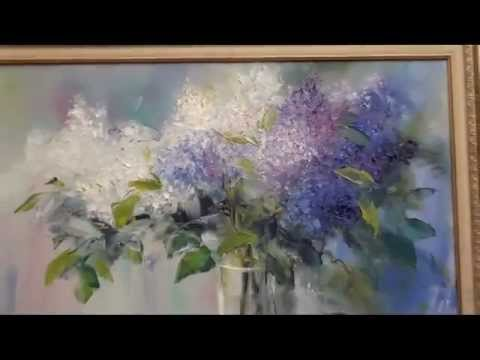 Russian Bob Ross. the most famous Russian artist Igor sugars. lilac flowers